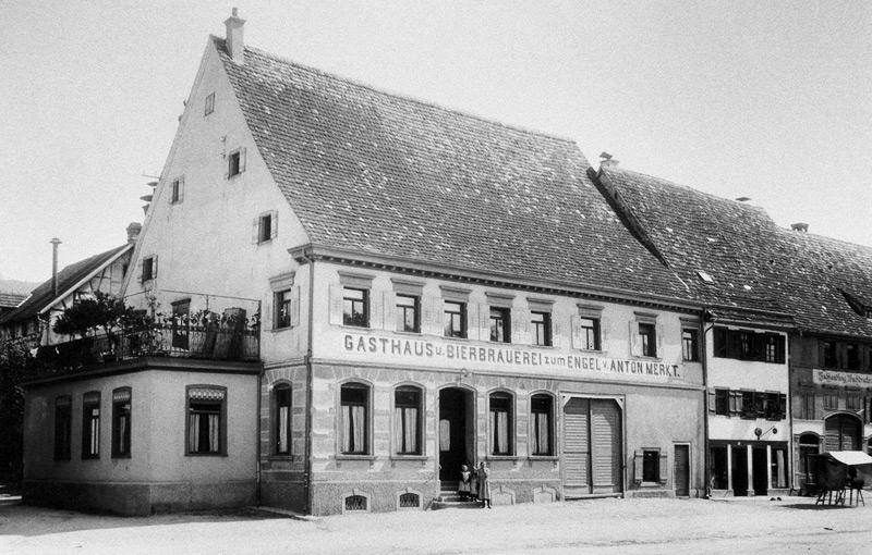 Gasthaus und Brauerei Engel um 1800
