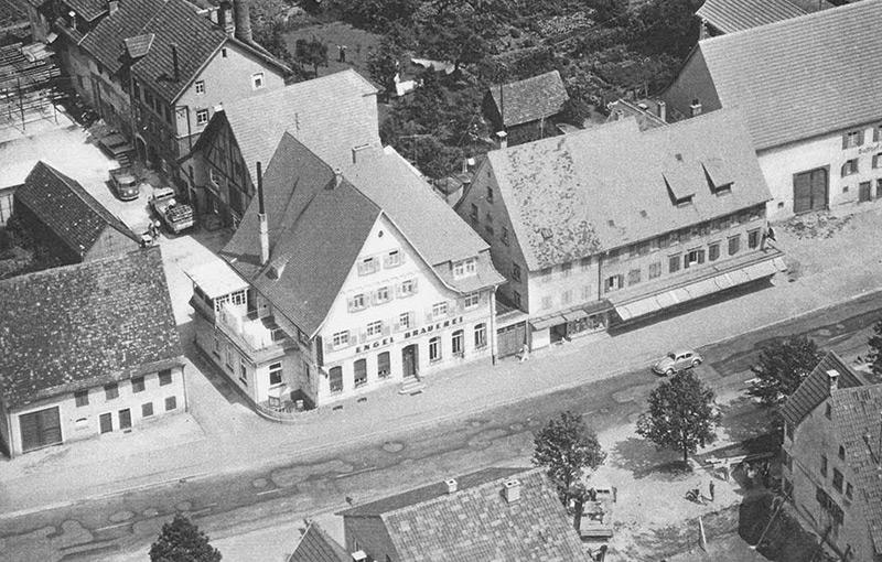 Gasthaus und Brauerei Engel um 1959